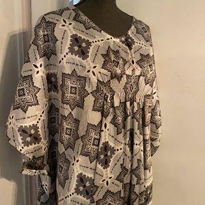 Vanity Fair kimono house coat size OS